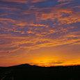 角田山に陽が落ちて