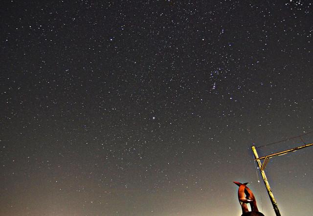 旧駅の星空