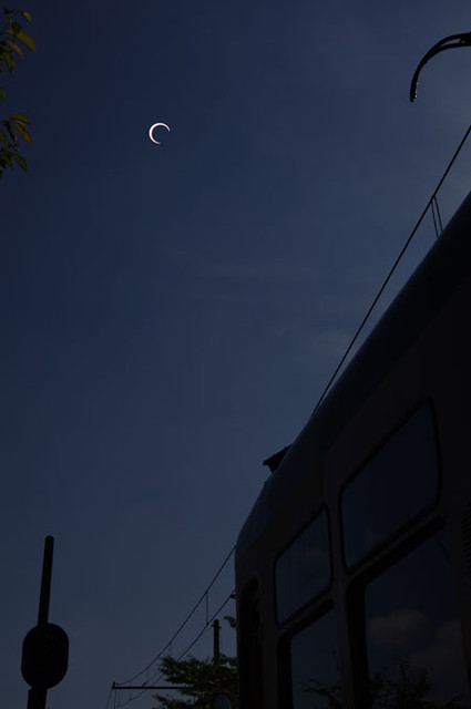 月潟の日食